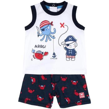 Oblačila Dečki Otroški kompleti Chicco 09076373000000 Modra