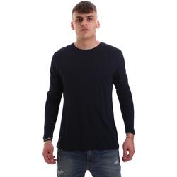 Oblačila Moški Majice z dolgimi rokavi Antony Morato MMKL00264 FA100066 Modra