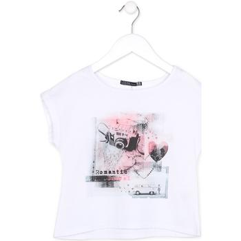 Oblačila Deklice Majice s kratkimi rokavi Losan 714 1014AB Biely
