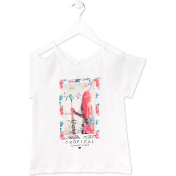 Oblačila Deklice Majice s kratkimi rokavi Losan 714 1026AB Biely