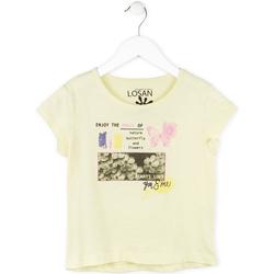 Oblačila Deklice Majice s kratkimi rokavi Losan 714 1208AB Rumena