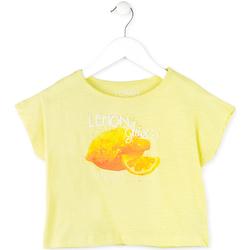 Oblačila Deklice Majice s kratkimi rokavi Losan 714 1211AB Rumena