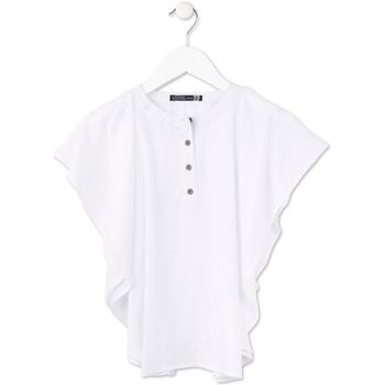 Oblačila Deklice Topi & Bluze Losan 714 3002AB Biely