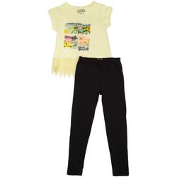 Oblačila Deklice Otroški kompleti Losan 714 8018AB Rumena