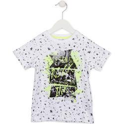 Oblačila Otroci Majice s kratkimi rokavi Losan 715 1008AC Biely