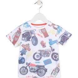 Oblačila Dečki Majice s kratkimi rokavi Losan 715 1017AC Biely