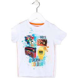 Oblačila Dečki Majice s kratkimi rokavi Losan 715 1023AC Biely