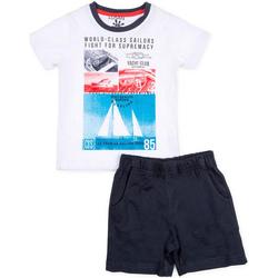 Oblačila Dečki Otroški kompleti Losan 715 8042AC Biely