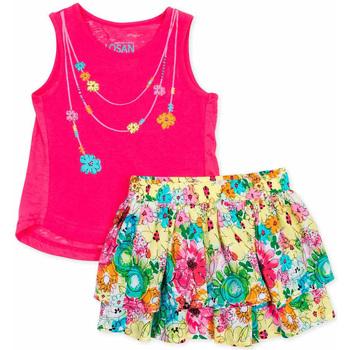 Oblačila Deklice Otroški kompleti Losan 716 8001AD Roza
