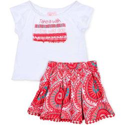 Oblačila Deklice Otroški kompleti Losan 716 8010AD Biely