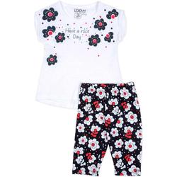 Oblačila Deklice Otroški kompleti Losan 716 8012AD Biely