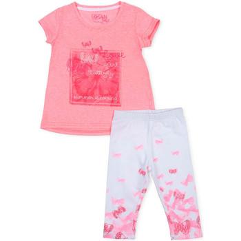 Oblačila Deklice Otroški kompleti Losan 716 8014AD Roza