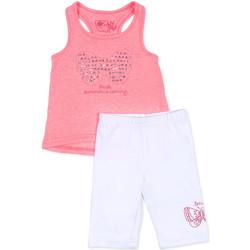 Oblačila Deklice Otroški kompleti Losan 716 8015AD Roza