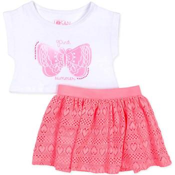 Oblačila Deklice Otroški kompleti Losan 716 8016AD Biely