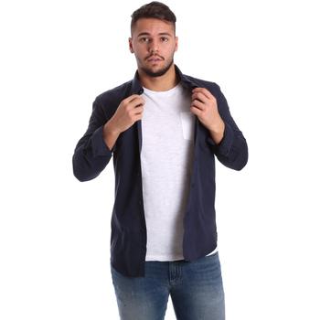 Oblačila Moški Srajce z dolgimi rokavi Antony Morato MMSL00408 FA400047 Modra