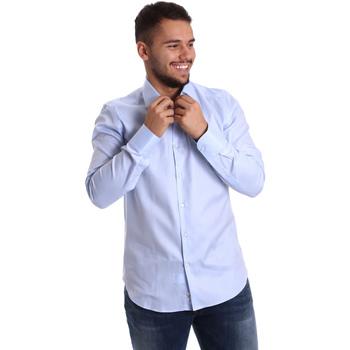 Oblačila Moški Srajce z dolgimi rokavi Gmf 972903/02 Modra