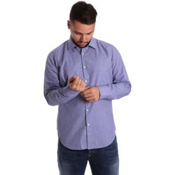 Oblačila Moški Srajce z dolgimi rokavi Gmf 972160/04 Modra