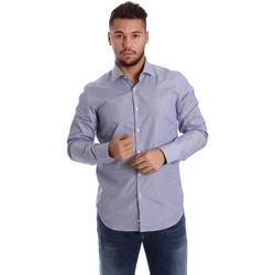 Oblačila Moški Srajce z dolgimi rokavi Gmf 972906/04 Modra