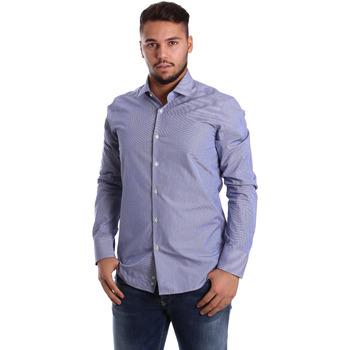 Oblačila Moški Srajce z dolgimi rokavi Gmf 972908/04 Modra