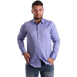 Oblačila Moški Srajce z dolgimi rokavi Gmf 972103/05 Modra