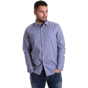 Oblačila Moški Srajce z dolgimi rokavi Gmf 972144/01 Modra