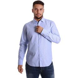 Oblačila Moški Srajce z dolgimi rokavi Gmf 972158/01 Modra