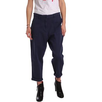 Oblačila Ženske Hlače Chino / Carrot Tommy Hilfiger DW0DW02588 Modra