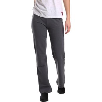 Oblačila Ženske Lahkotne hlače & Harem hlače Key Up 549F 0001 Siva