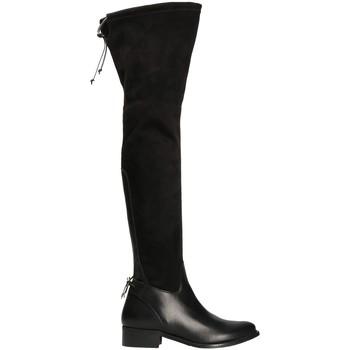 Čevlji  Ženske Visoki škornji Mally 6077-1 Črna