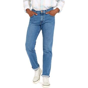 Oblačila Moški Jeans straight Wrangler W12OM440D Modra