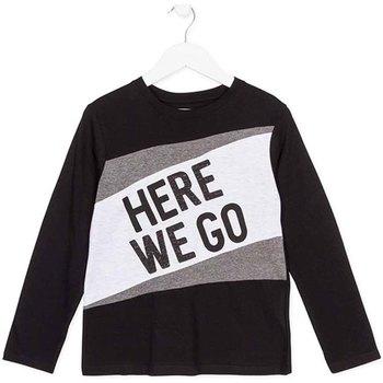 Oblačila Otroci Majice z dolgimi rokavi Losan 723 1020AA Črna