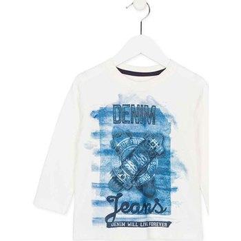 Oblačila Otroci Majice z dolgimi rokavi Losan 725 1000AC Biely