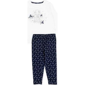 Oblačila Deklice Otroški kompleti Losan 726 8003AD Biely