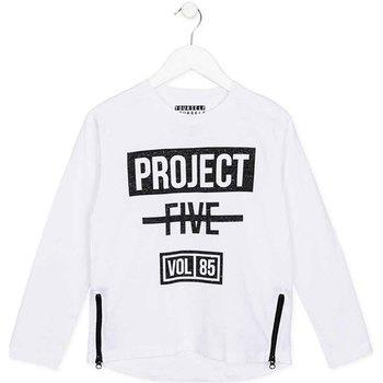 Oblačila Otroci Majice z dolgimi rokavi Losan 723 1010AA Biely
