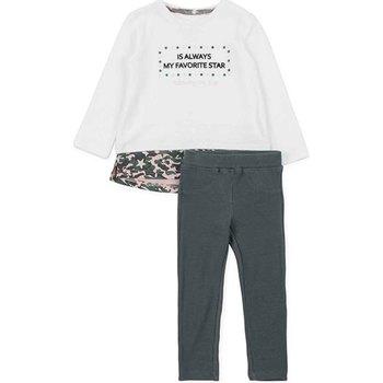 Oblačila Deklice Otroški kompleti Losan 726 8036AD Biely