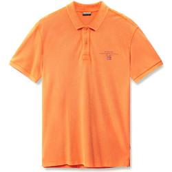 Oblačila Moški Polo majice kratki rokavi Napapijri N0YIJ5 Oranžna