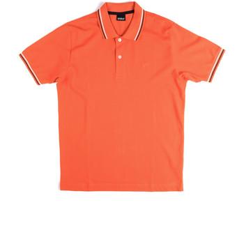 Oblačila Moški Polo majice kratki rokavi Key Up 2Q70G 0001 Oranžna