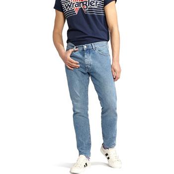 Oblačila Moški Jeans straight Wrangler W18RER Modra