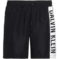 Oblačila Moški Kopalke / Kopalne hlače Calvin Klein Jeans KM0KM00437 Črna