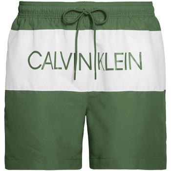 Oblačila Moški Kopalke / Kopalne hlače Calvin Klein Jeans KM0KM00456 Zelena