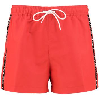 Oblačila Moški Kopalke / Kopalne hlače Calvin Klein Jeans KM0KM00457 Rdeča