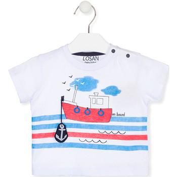Oblačila Otroci Majice s kratkimi rokavi Losan 017-1004AL Biely