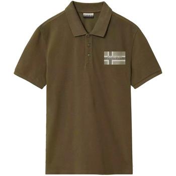 Oblačila Moški Polo majice kratki rokavi Napapijri NP0A4E2K Zelena