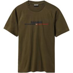 Oblačila Moški Majice s kratkimi rokavi Napapijri NP0A4E37 Zelena