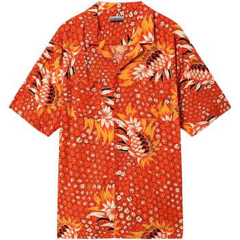 Oblačila Moški Srajce s kratkimi rokavi Napapijri NP0A4E81 Rdeča