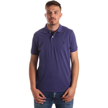 Oblačila Moški Polo majice kratki rokavi U.S Polo Assn. 41029 51244 Modra