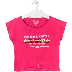 Oblačila Deklice Majice s kratkimi rokavi Losan 014-1025AL Roza