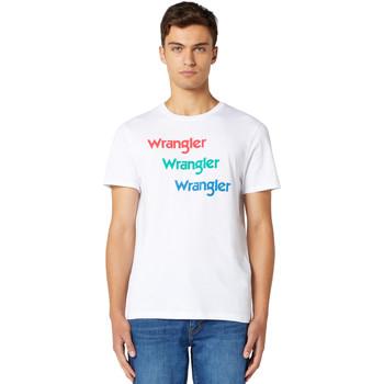 Oblačila Moški Majice s kratkimi rokavi Wrangler W7D7D3989 Biely