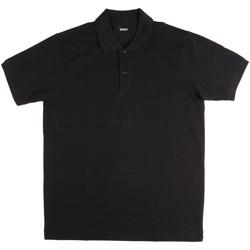 Oblačila Moški Polo majice kratki rokavi Key Up 2800Q 0001 Črna