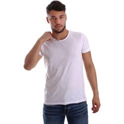 Oblačila Moški Majice s kratkimi rokavi Key Up 233SG 0001 Biely